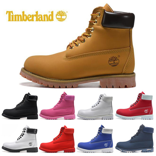 Timberland Designer Luxury Boots For Mens Winter Boots Top Quality Womens Military Triple White Black Camo Size 36 45 Designer Shoes Rain Boots For