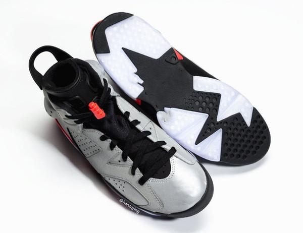 Compre 2019 6S Jsp Reflective Silver Hombre Zapatos De Baloncesto Con Caja 6s Sneakers Sneaker Trainer Shoes Envío Gratis A $133.28 Del Fashion_bar  