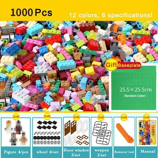 best selling 1000 450 Pieces Model Building Kits Classic Blocks Compatible DIY Bricks Bulk Educational Toys For Children Kids Free Gift