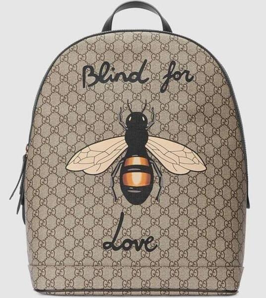 Bee Print Рюкзак 419584 Мужские рюкзаки Сумки через плечо Totes Сумки Верхние ручки Сумка через плечо