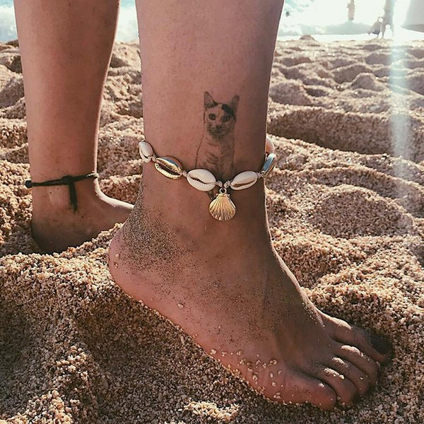 Girl Hand Woven Shell Anklet Woman Bohemian Bracelet Fashion Shell Beach Foot Chain Lady Jewelry Party Festival Gift TTA1280
