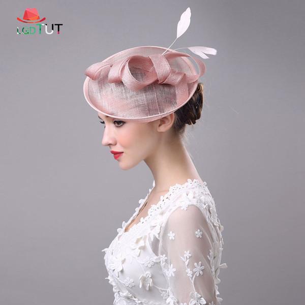New Ladies Bridal Hats Bowler Wedding Banquet Lady Hat Wedding Hats For Women Elegant Head Wear Banquet Lady Prom Hat