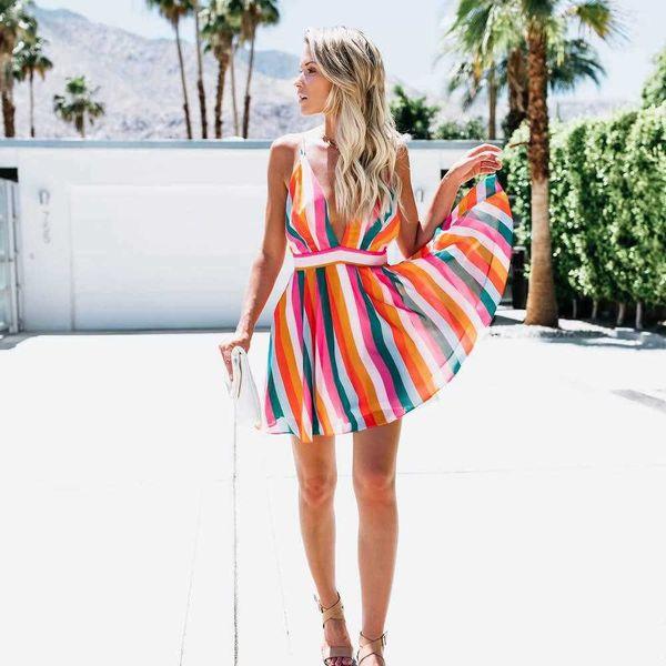 Femmes Sexy Robes De Mode Designer De Vacances D'été Robes De Plage 2019 Nouvelle Arrivée Femmes Sexy Robes Courtes Et Longues Taille S-XL