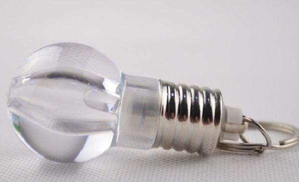 Ampoule Led Porte-Clé Jouet, Petit Cadeau Créatif, Cadeau Gratuit pour Une Promotion, Mini Ampoule (Couleur RGB / Blanc)