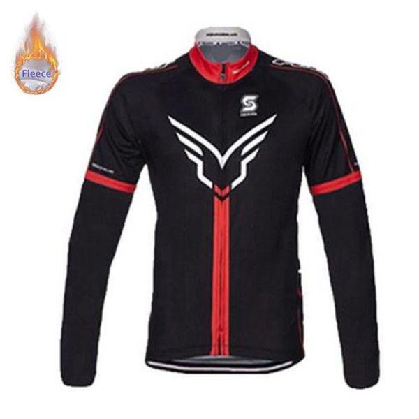2019 FELT GIANT Männer Pro Team Fahrradbekleidung Winter Radtrikot Langarm Thermovlies Mountainbike Jersey Fahrradbekleidung