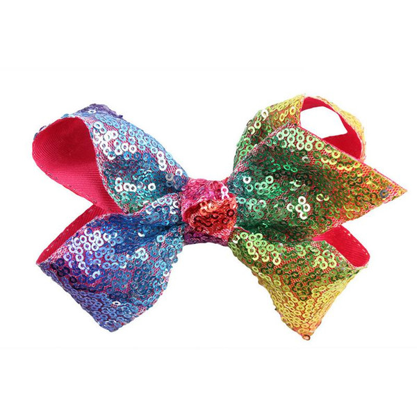 "15pcs Glitter Sequins 4/"" Hair Bows Clip Bling Sparkly Party Bows Alligator Clips"