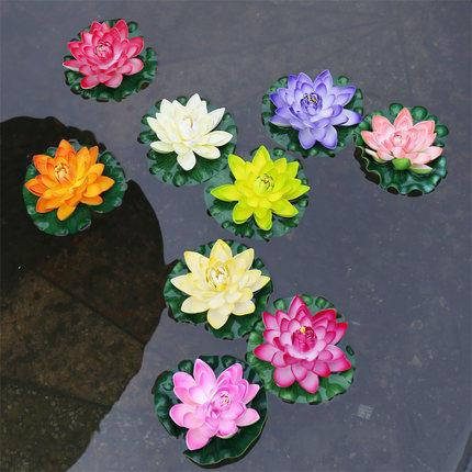 1pcs 17cm Artificial Lotus Flowers Fake Bouquet for Wedding Decoration Fish Tank Floating Water Lily Lotus
