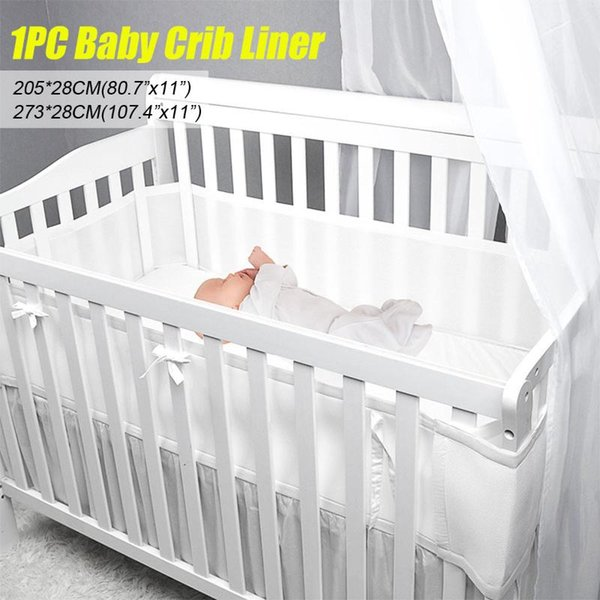 top popular Baby Breathable Mesh Crib Liner Infant Cot Bumper Breathable Mesh Children Bumper Crib Liner Baby Cot Sets Bed Around Protector 2021
