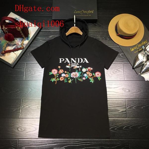 Abiti estivi di marca delle donne t-shirt plus size abito da donna casual abiti da donna felpa con cappuccio in cotone ricamo con cappello gonna donna vestiti