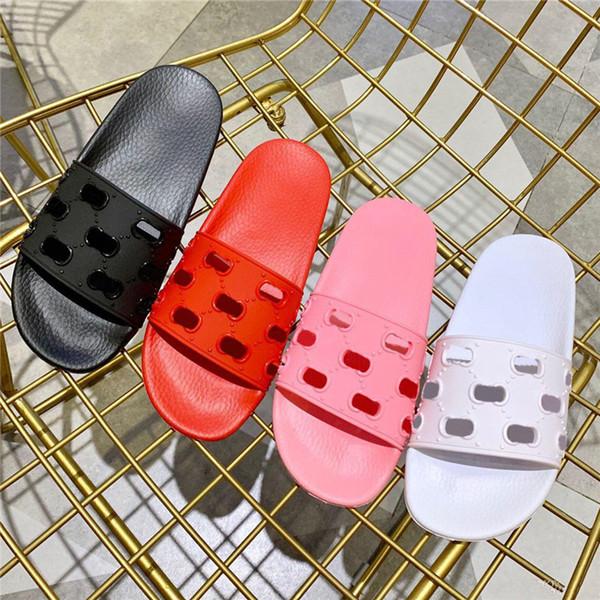 Designer Flip Flops Damen Designer Slides Fashion Luxury 2019 Herren Schuhe Designer Sandalen Scuffs Beach Flip Flops mit Box