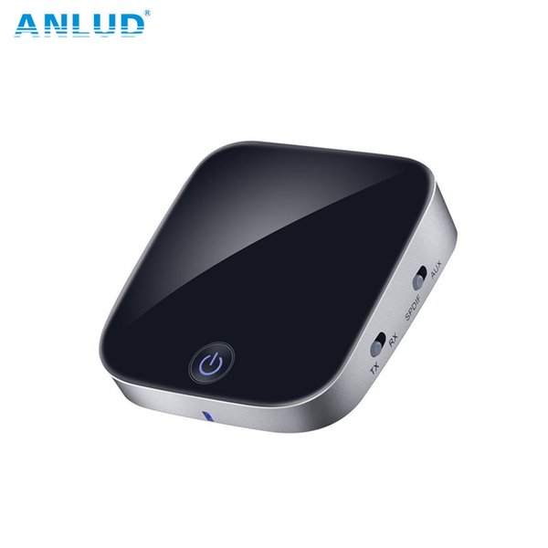 ANLUD Bluetooth Transmitter Receiver 2 In 1 Wireless Audio Adapter with aptX and Included Toslink Optical Cable for Headphones