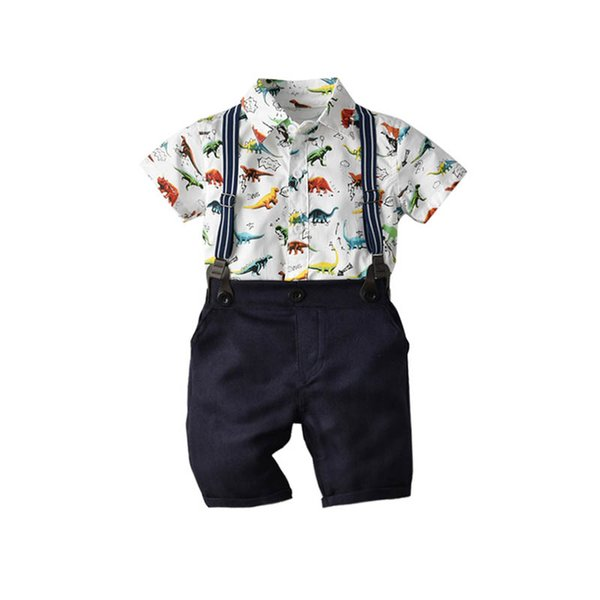 Summer new dinosaur Baby Suit Boys Suits newborn baby boy clothes Infant Outfits Boys Clothing Sets baby infant boy designer clothes A5176