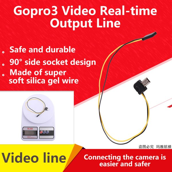 Gopro3 Video Output Line FPV Connector Cable AV Video Real-time Output Cable for Gopro 5.8G Transmitter