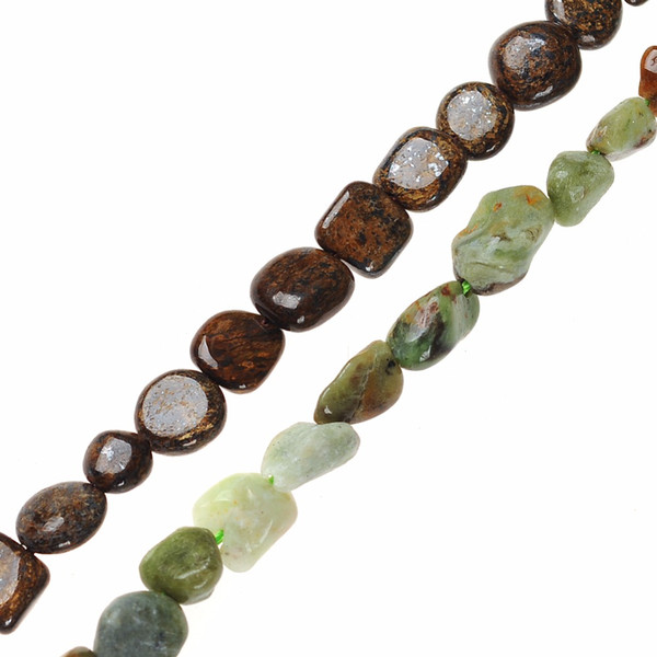AAA Natural Stone Beads Gravel Chips beads Green Brown Chips Beads 3*5*10mm For DIY Necklace Bracelet Jewelry Making Accessories