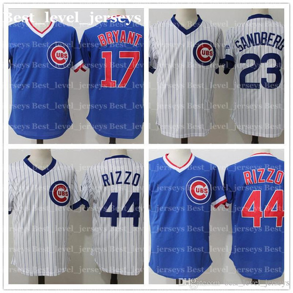 cheap retro mesh 9 Javier Baez Jersey 12 Kyle Schwarber 23 Ryne Sandberg 22 Jason Heyward Cubs Jersey Chicago hot sale fast shipping