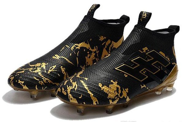 Purecontrol Primeknit outtdoor Crampons de football sol ferme Crampons FG Formateurs NSG Hommes Chaussures de football Chaussures de football d'or noir en gros xc257