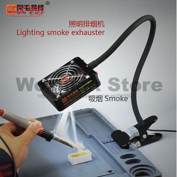 220 V LED Ventilatore di scarico Saldatore Ventilatore di aria Stazione di saldatura Saldatura Dispositivo di rimozione di fumo Strumento per fumi Strumento di riparazione del colpo