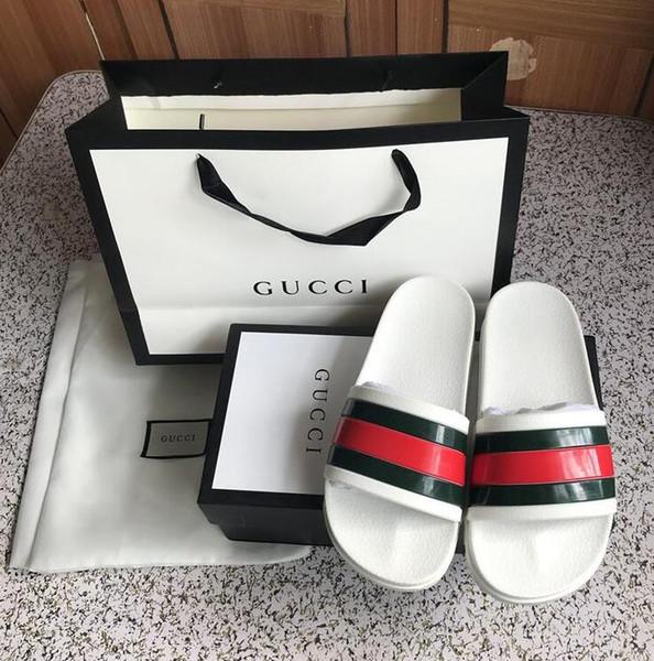 Männer Frauen Sandalen mit korrekten Blumenkasten Staubbeutel Schuhe Schlangendruck Slide Sommer breite flache Sandalen Slipper