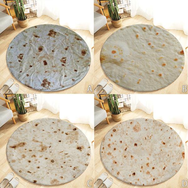 Conforto Macio Burrito Envoltório Cobertor de Chão Rodada Do Banheiro Absorção de Água 120 cm Tortilla Crianças Tapetes Cobertor