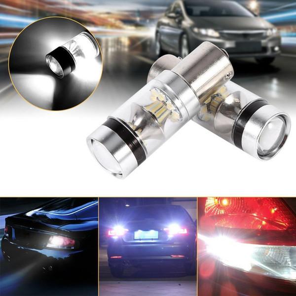 2 Pcs 1156 LED Cree Chip Bulbo 100 W DC 12 V 360 Graus 20 SMD Luz de Nevoeiro Do Carro Branco Sourcing Lâmpada de Estacionamento