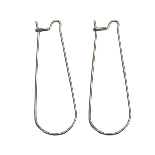 wholesale ID 22505smt4 Wholesale Stainless Steel Earring Clasp for Jewelry Making U Shape Hoop Geometric Wire Hook Accessories