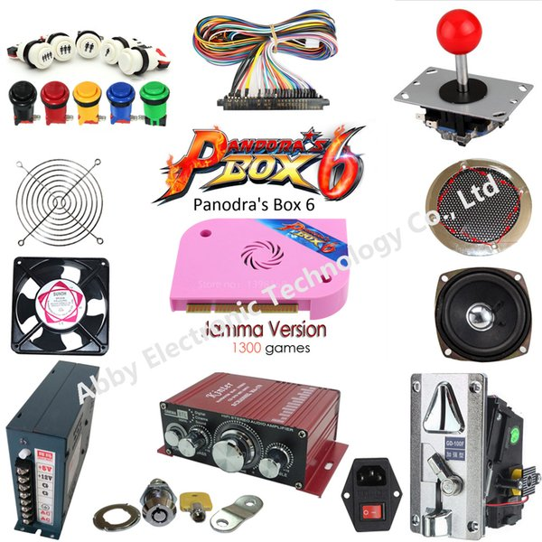 Pandora Box 6 1300 in 1 8 button 2 players arcade game DIY Kits joystick for Family arcade console