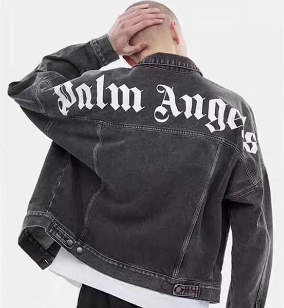 Palm Angels джинсовая куртка женщины мужчины Palm Angels верхняя одежда пальто Palm Angels KANYE WEST хип-хоп негабаритные куртки
