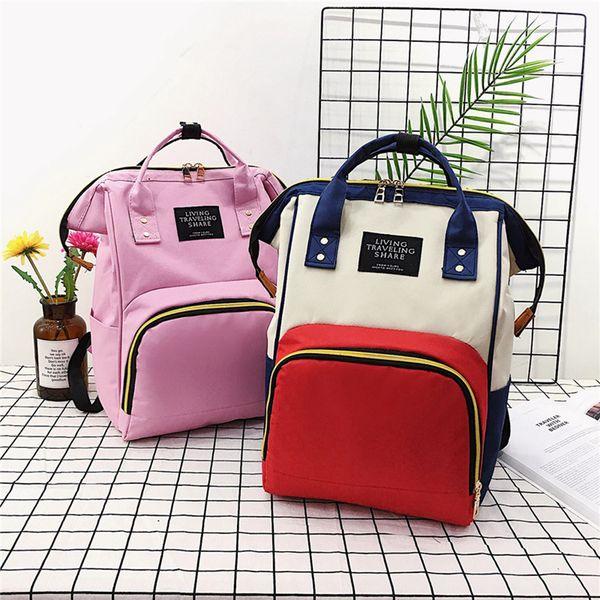 Fashion Waterproof Baby Diaper Bag Mummy Maternity Nappy Bag Large Capacity Lady Travel Backpack Nursing Bag RRA580