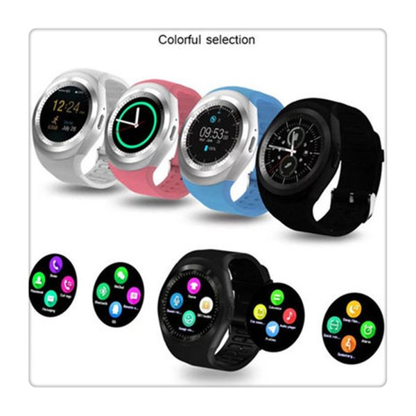 Bluetooth Smart Watch with Pedometer Sleep Monitor Remote Sync for Android Smartphones Round Touch Screen Free Shipping