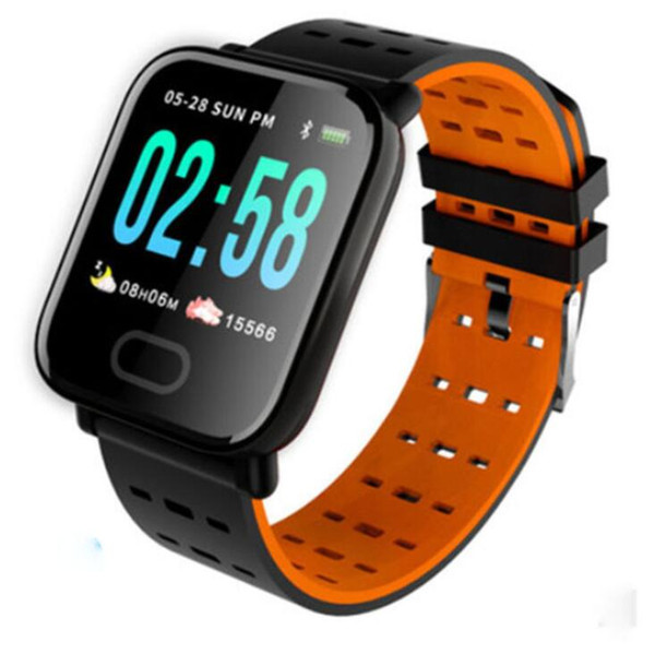 top popular 1PCS A6 Wristband Smart Watch color Touch Screen IP67 Water Resistant Smartwatch Heart Rate Smart Bracelet Monitor for iphone Android 2020