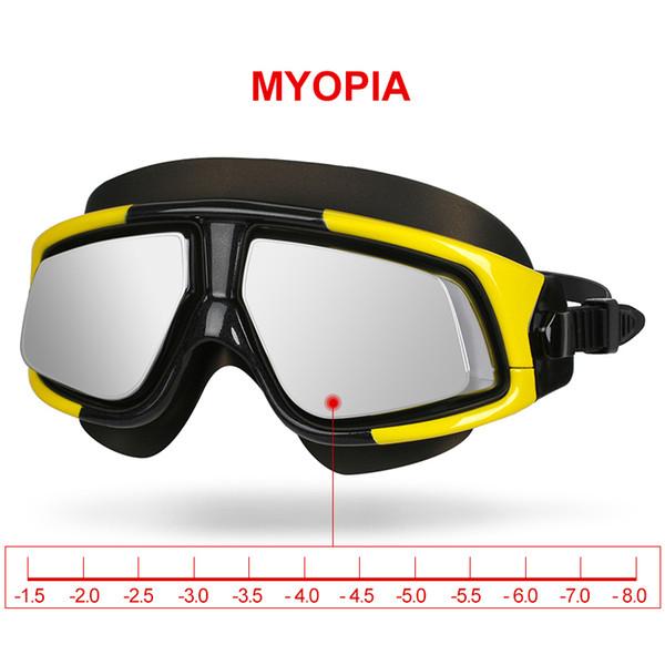 Copozz Swimming Goggles Waterproof Anti Fog UV Eyewear Silicon Mirrored Large Frame Sport Myopia Glasses Men and Women Swim Mask