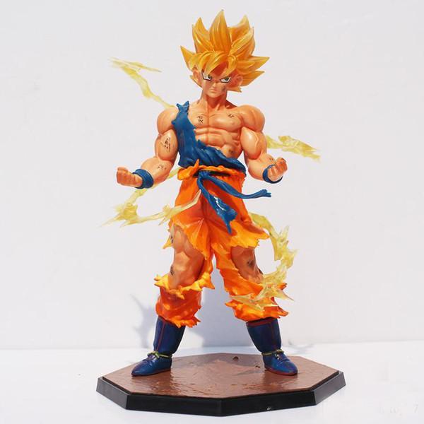 Dragonball Dragon Ball Z Súper Saiyan Son Gokou PVC Figura de Acción de Goku Figuras Colección Modelo de Juguete de Regalo Con Caja 17 cm