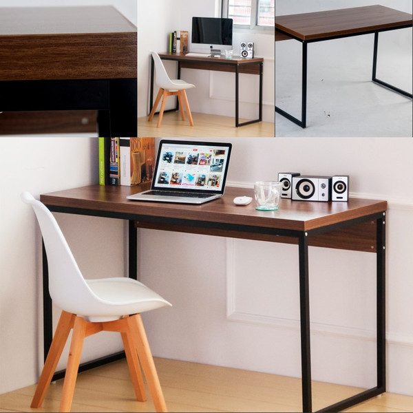 2019 US Writing Desk Computer Table Wood Home Office Furniture Workstation  Brown Living Room Decoration In Stock From Greatfurnishing, $74.13 | ...