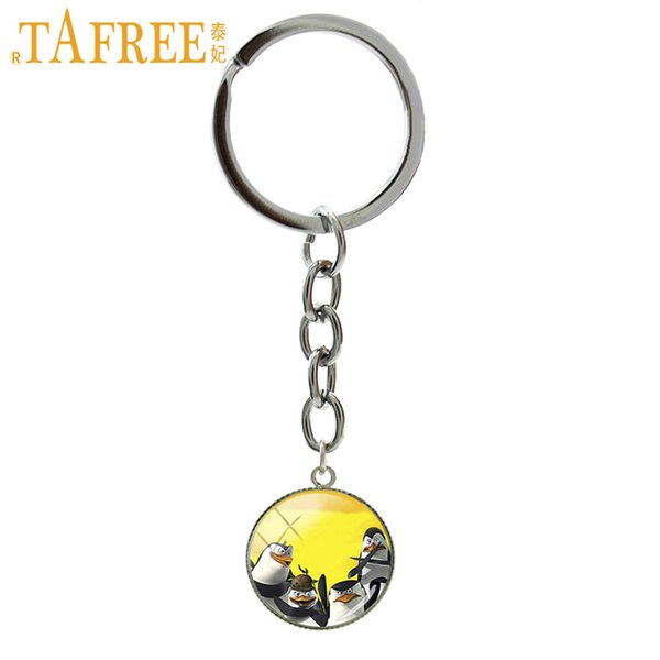 TAFREE Cool animal key chain ring new Penguins of Madagascar art picture pendant keyring keychain for boys girls jewelry NS467