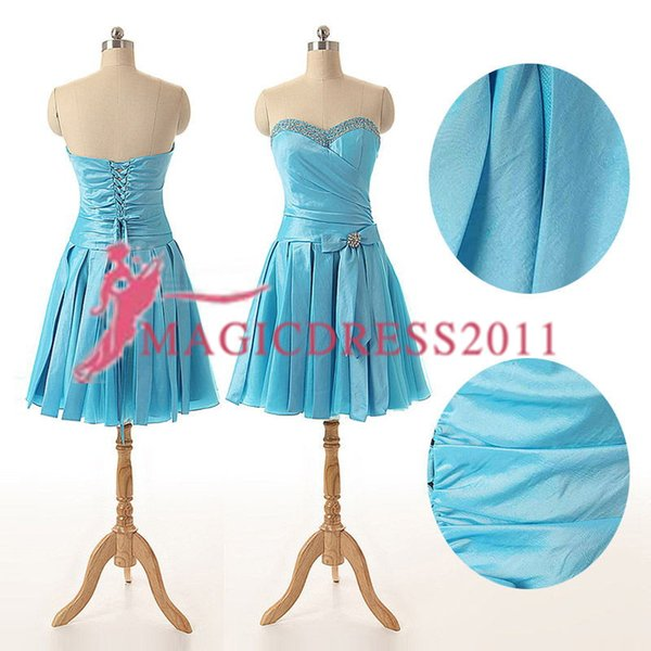 Best Selling SD174 In Stock Short Party Gowns Strapless Bridesmaid Dress Knee Length Cocktail Dress 24 hours For Shipment 2019 Prom Dress