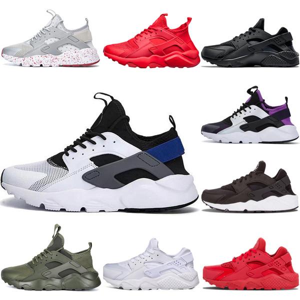Nike air huarache 4 2018 New Alta qualità huarache IV 4 scarpe da corsa per uomo donna Nero bianco rosso giallo Sneakers Huaraches Jogging scarpe sportive