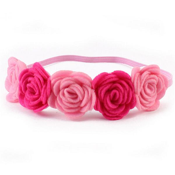 New Kids Baby Girl Wreath GarlandsToddler Flower Headband Hair Band Headwear Hair Accessories Beautiful Creative Party Decor New
