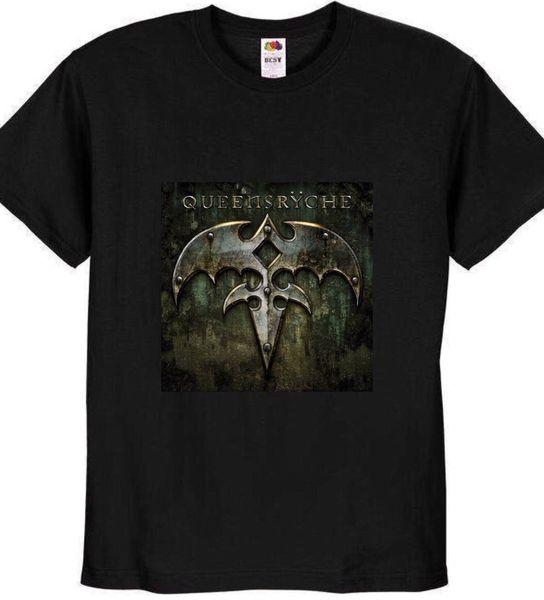 Queensryche Band Album Black T Shirt Top 100% algodón nuevo