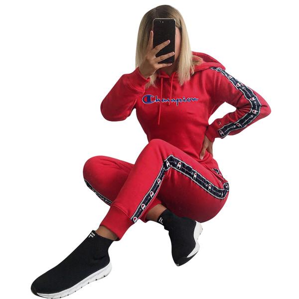 Artı Boyutu Kadın Eşofman Bayanlar Uzun Kollu T Gömlek Pantolon Spor Kadın Sonbahar Kıyafetler Kadın Iki Parçalı Kıyafetler C1812133
