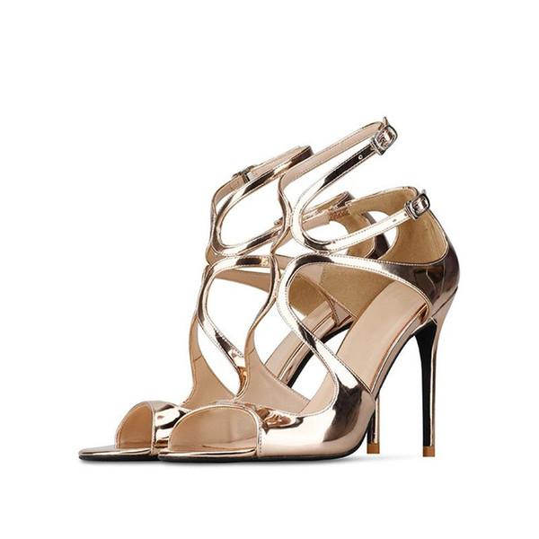 36d6601b Stkehidba Sandalias Mujer Zapatos de tacón alto Sandalias de verano Peep  Toes Sexy Zapatos de fiesta