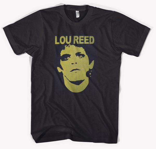 Yeni Lou Reed Rock Müzik Simgesi Erkek Siyah T-Shirt S - 3XL