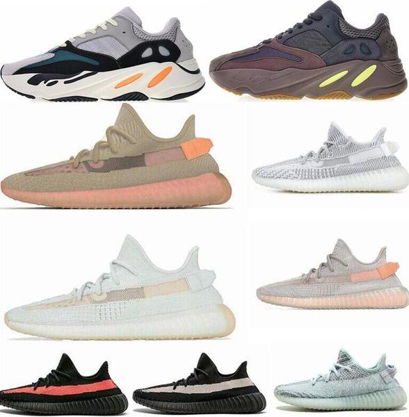 (Kutu ile) 2019 Tuz INERTIA 700 Kanye West Dalga Koşucu Statik 3 M Yansıtıcı Leylak Katı Gri Ayakkabı Erkekler Kadınlar Spor Sneaker Ayakkabı boyutu 36-46