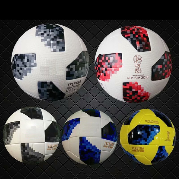 top popular 2018 red knock-out stage match New RUSSIA Premier PU football Ball World soccer Ball PU Champion outdoor Sport Training Calcio Cup Futebal. 2021
