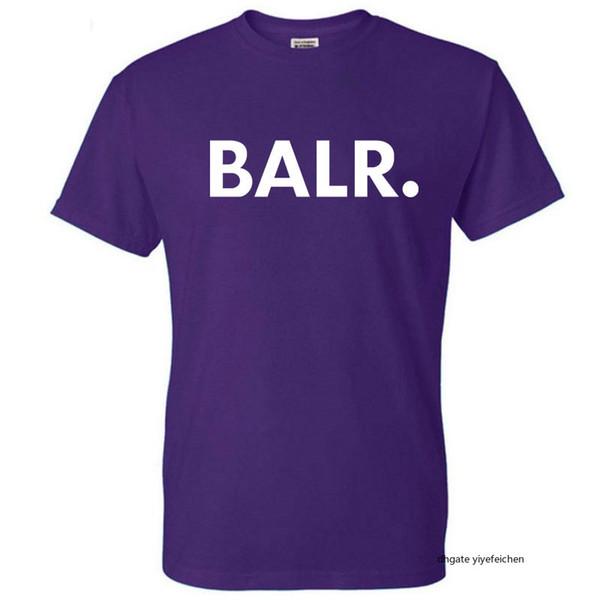 BALR balr Nuevos ocasionales camiseta de algodón Balr novedad manga corta impresa Balr. Tee Shirts Moda BR O-Cuello Tops StreetWear ropa de diseño