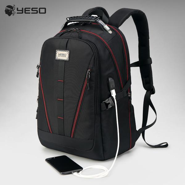Usb Charging Backpack Men Large Capacity Multifunction Teenager Waterproof Oxford Travel Laptop Backpacks For Women Men Bag