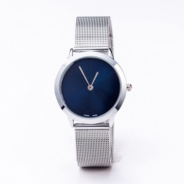 2019 latest fashion brand men and women steel belt watch alloy high-end fashion steel belt fashion men and women models quartz watch