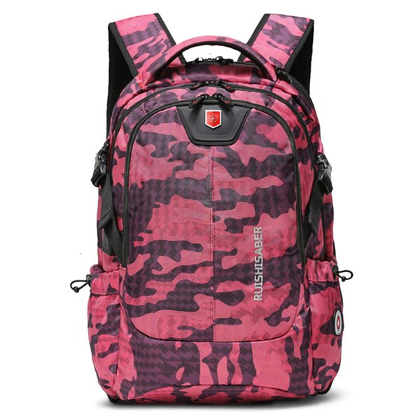 Camouflage rose red