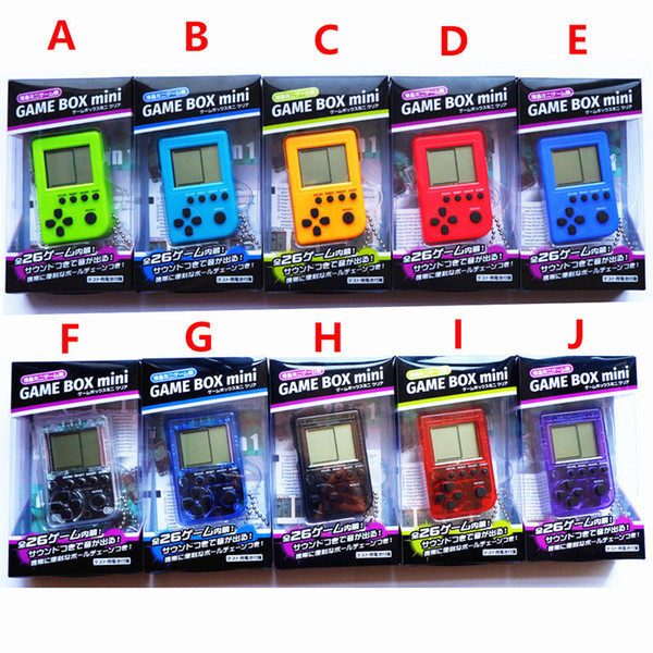 top popular 2018 Palmtop mini electronic game console tetris game nostalgia toy Tamagotchi Funny Kids Toys game console christmas gifts Free DHL 2020