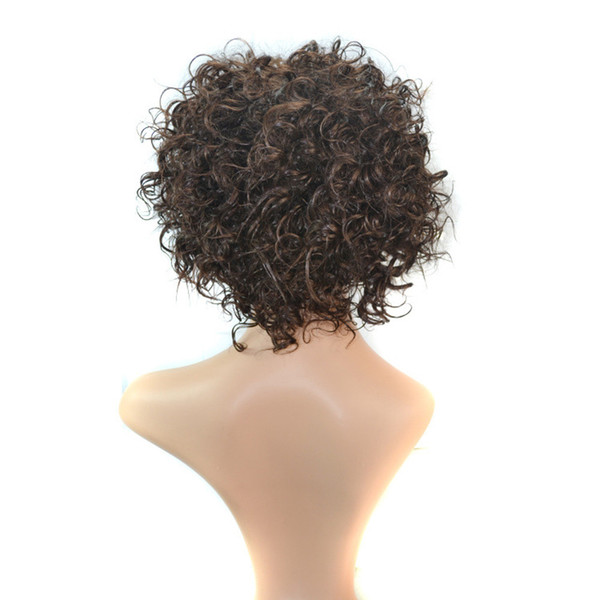 30cm Short explosion wig Density Natural wig Hairline Women Sprial Spring Curls Kinky Synthetic Lace hair tools accessories