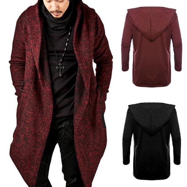 nibesser 2018 men hooded sweatshirts black hip hop mantle hoodies fashion jacket long sleeves cloak man's coats outwear sale
